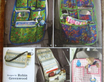 Car Organizers, Over the Seat Storage, Travel Simplicity Pattern 2916 UNCUT