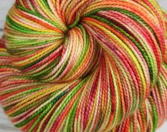 HAWAIIAN MACARONS: Superwash Merino Wool-Nylon - Fingering / Sock Weight Yarn - Hand dyed sock yarn - Tight twist sock yarn - Variegated