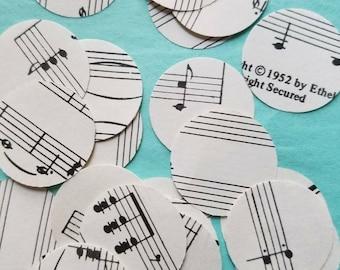 Sheet Music Circles Confetti / Vintage sheet music confetti / Wedding Confetti / Bridal shower / Graduation party /  Vintage Map
