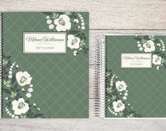 Monthly Planner  | 24 Month Planner | Personalized Monthly Planner | Calendar Planner | 2 Year Planner | Month On Two Pages| garland
