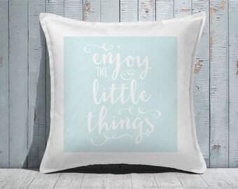 Custom Decorative Pillow | Throw Pillow | Custom Pillow | 20 x 20 Pillow Cover | Custom Pillow Cover | Personalized Pillow | little things
