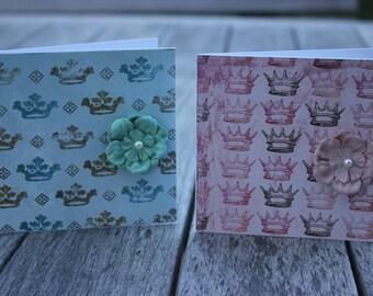 Blank Notecards, Prince and Princess Crowns Blank Notecards, Princess Crown Notecard
