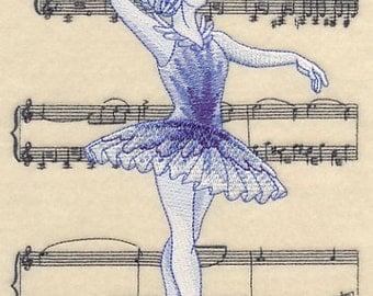 Swan Lake Ballerina Quilt Block