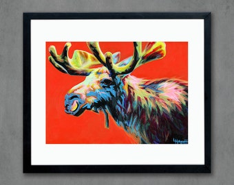 Moose Giclee Art Print from Original Painting - Signed Limited Edition