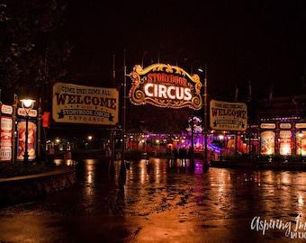 Disney Photography, Storybook Circus Wall Art, Magic Kingdom, Disney Print, Neon Colors Colorful Print, Disney Photo, Walt Disney World