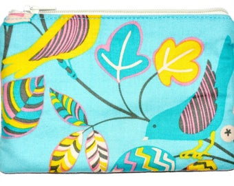 Bird Coin Purse Zipper Pouch Small Zippered Pouch Change Purse Wallet ID Card Holder Gift Idea