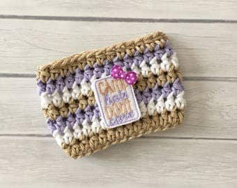 Camping cup cozy, camping mug, camping gift, camp hair dont care, coffee cup, coffee cup cozy, coffee cup sleeve, crochet cozie, cup cozy