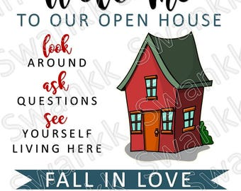 Real Estate Open House Sign - Customizable
