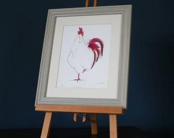 Monsieur Feather Print