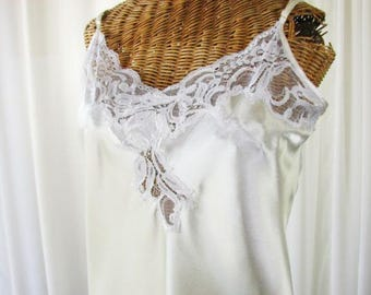 Oscar de la Renta Ivory White Bridal Nightgown Medium