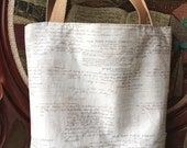 Book bag, NY Public Library print, tote