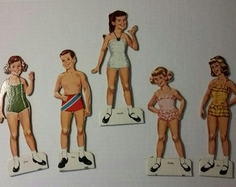 Angela Cartwright Cut-Out dolls, vintage paper doll toys