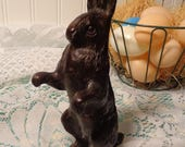 Vintage Solid Brass Rabbit  - Solid Brass Easter Bunny  -  16-164