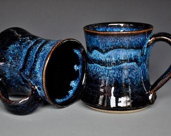 Midnight Blue Pottery Mug Ceramic Coffee Mug Stoneware Mug