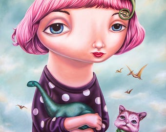 Beautiful Strangeness - A3 Limited Edition signed Portrait of Mab Graves Fine Art Print - by Rachel Favelle