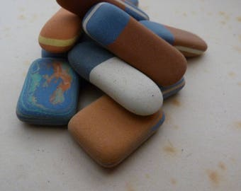5 BERLIN Antique ERASERS - Germany Antique Erasers - Office and desk supplies - RUBBER set