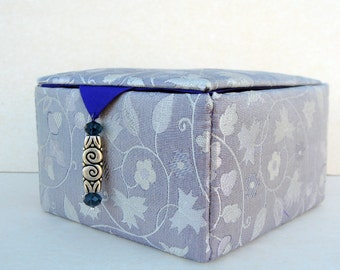 silk storage box, decorative box, jewelry box, keepsake box, trinket box, gift box