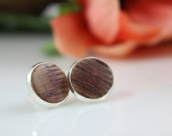 Free Shipping - Wine Barrel Stave Post Stud Earrings - First Edition