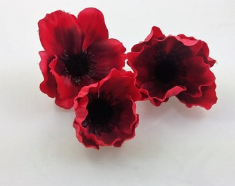 Lot of 3 Assorted Anemone -Red
