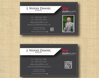 Digital File | Custom Business Card Design Dark Grey | Any Color Any Company