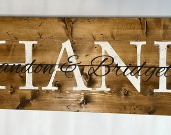 Wood,sign,last name, decor, personalized