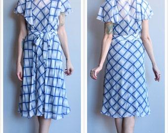 1930s Dress // Sweet Viola Plaid Dress // vintage 30s dress