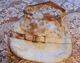 Genuine Vintage Pony hair Pony skin purse handbag pocketbook