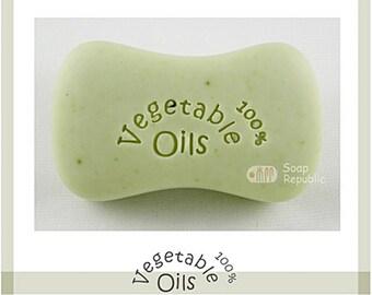 SoapRepublic 100% Vegetable Oils Acrylic Soap Stamp / Cookie Stamp