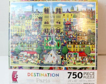 750 pc puzzle destination Paris ceaco brand jigsaw