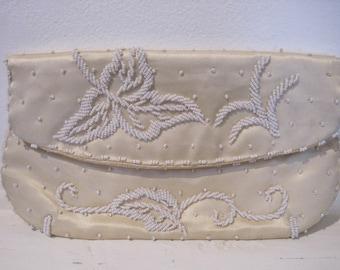 Vintage Beaded Clutch Purse by Debbie
