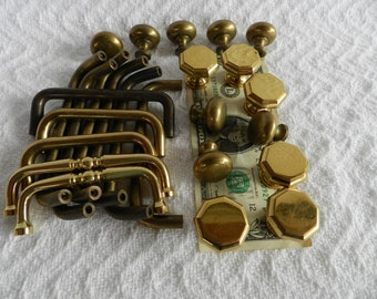Solid Brass-Robot Parts-Found Objects-Drawer Pulls-Junk Drawer