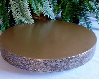 """Wedding Cake Stand """"Antiqued Gold Leaf""""  14"""", 16"""", 18"""", 20"""", and 22"""" cake stand"""