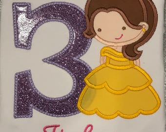 Personalized Boutique Belle Birthday Shirt