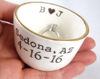 BRIDAL SHOWER GIFT for a bride | wedding gift for a couple | engagement gift for a friend | valentine's gift for a wife | custom ring holder