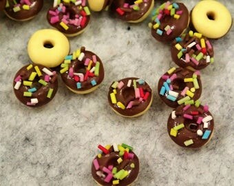 Miniature Chocolate Donut - 10/50pcs