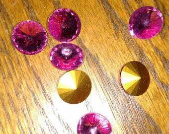 14mm Swarovski crystal Rivoli Rose