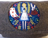 Alice in Wonderland Through the Looking Glass Wristlet Clutch Bag