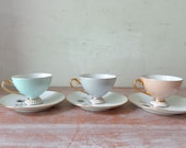RESERVED for Julie - VIntage Westminster Demitasse Setting for 3 in Beautiful Pastel Tones