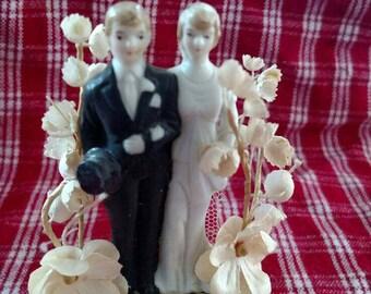 Vintage Wedding Cake Topper circa 1920/1930