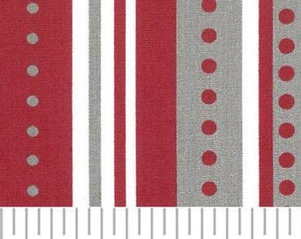 Red and Gray Stripe by Fabric Finders