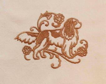 Cavalier King Charles Spaniel Tea Towel Medium Design | Dog Kitchen Towel | Dog Lover Gift Towel | Personalized Dish Towel|Embroidered Towel