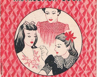 Vintage Illustrated Smocking Instruction Book by Semco