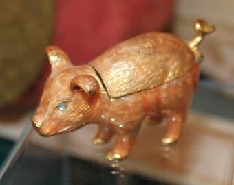 Monet Pig Trinket Box