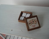 Miniature box with playing cards
