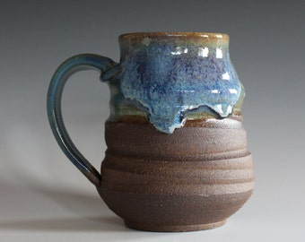 Coffee Mug, 17 oz, handthrown ceramic mug, stoneware pottery mug, unique coffee mug, stoneware mug, coffee mug pottery, pottery mug
