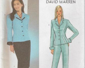 Misses Suit Pattern Jacket Skirt Pants Misses Size 6 - 8 - 10 uncut Butterick 3918