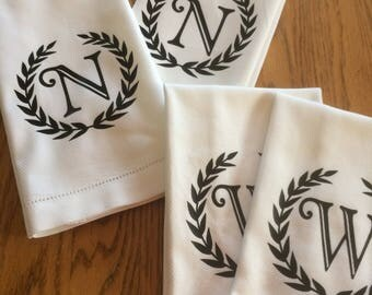 Personalized Kitchen Towels; Set of Two; Monogramed Kitchen Towels; Bridal Shower Gift; Wedding Gift, Housewarming Gift