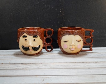 Mom and Dad Face Mugs