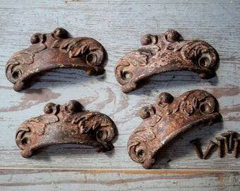 Antique Drawer Pulls Set of Four