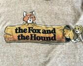 80s Fox and The Hound Disney Movie Promo Shirt